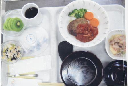 東都文京病院産後ケアの食事ハンバーグ
